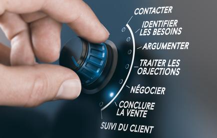 Techniques de vente, étapes et stratégie commerciale des forces de vente pour vendre un produit ou un service à un client.