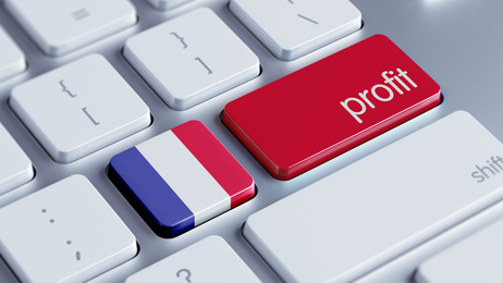 France High Resolution Profit Concept